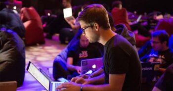 a man in hackathon event