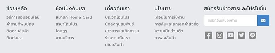 ตัวอย่าง html sitemap